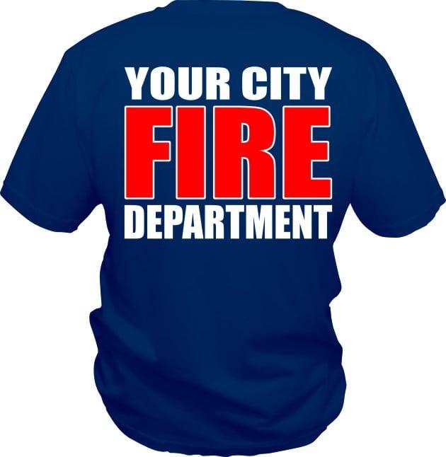 Custom Fire Department T Shirt Five Star Designz