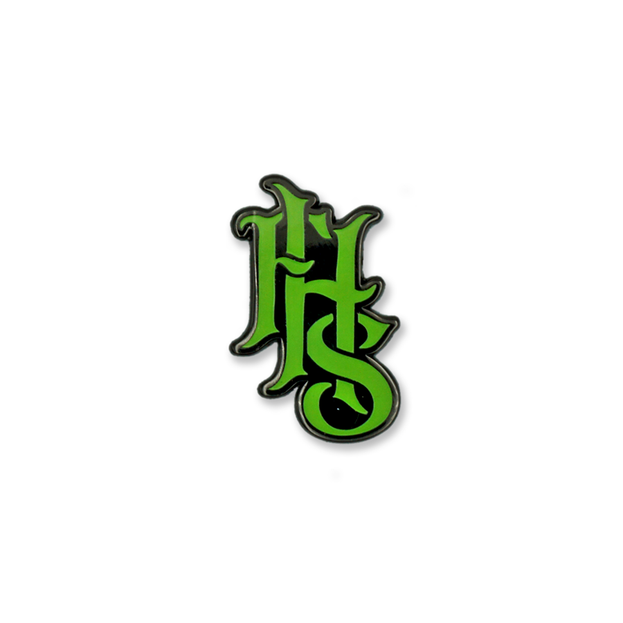 FHS LOGO 3 - GREEN & SILVER (GLOW IN THE DARK)