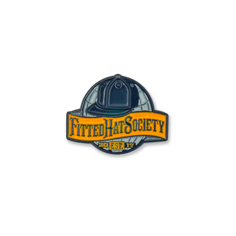 FHS World Enamel Pin - Navy & Orange