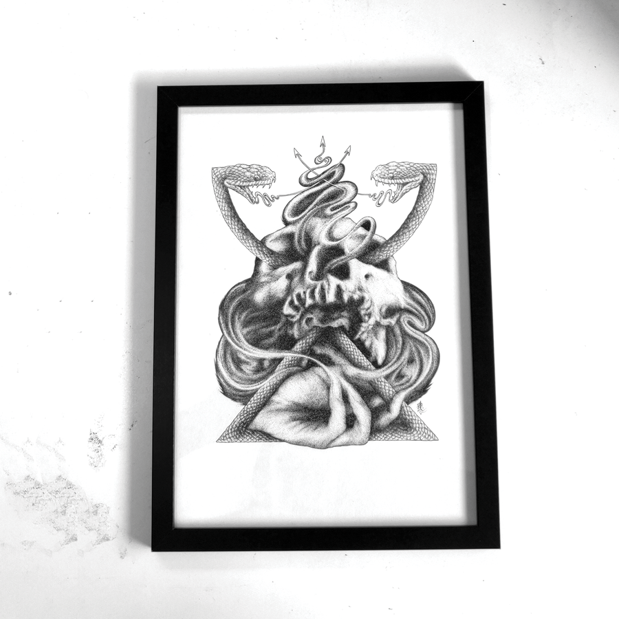 Image of Empty Chalice | Ink Drawing