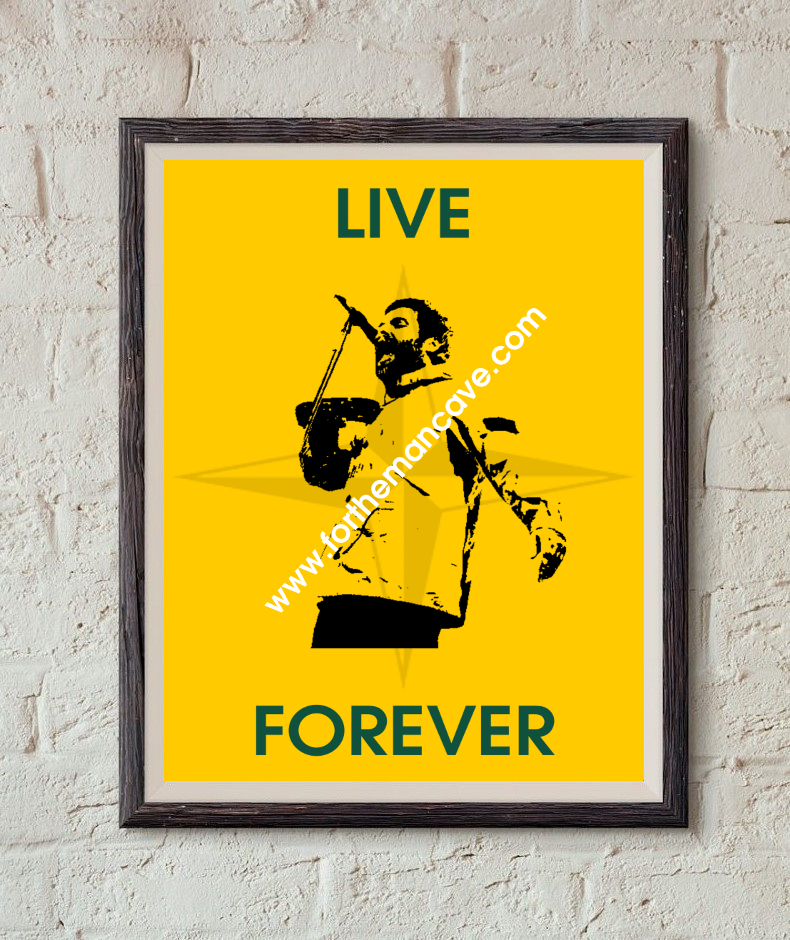Image of LIAM GALLAGHER - LIVE FOREVER / S.I PRINT (YELLOW)