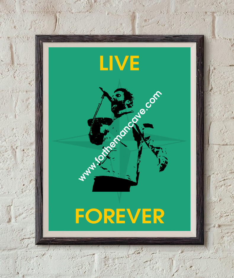 Image of LIAM GALLAGHER - LIVE FOREVER / S.I PRINT (GREEN)