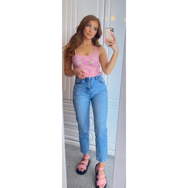 Image of Pink knitted top