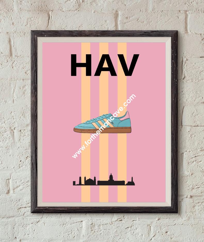 Image of 1/2020  HAVANA INSPIRED / THREE STRIPE PRINT