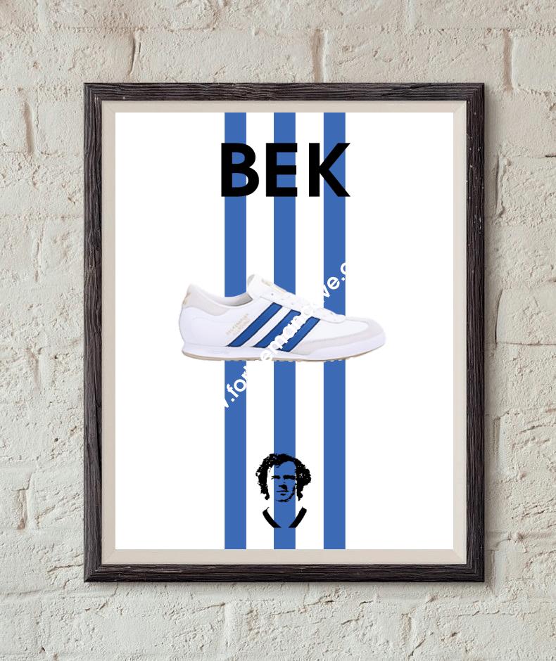 Image of BECKENBAUER INSPIRED / THREE STRIPE PRINT (WHITE)