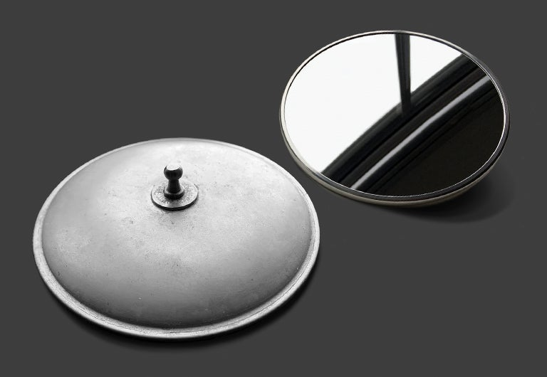 Image of Splitscreen Convex Mirror - Patina'd