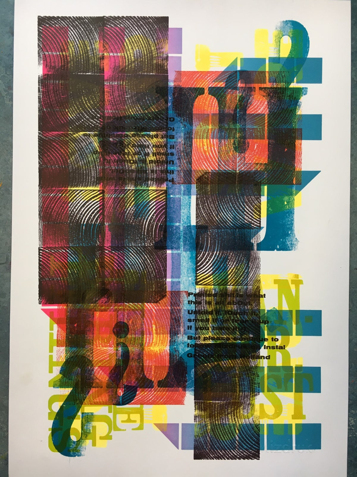 Image of One-off Typo Poster #2-016