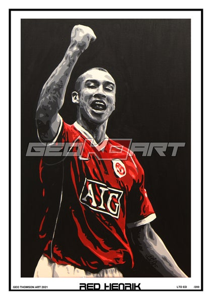 Image of HENRIK LARSSON MANCHESTER UNITED RED HENRIK