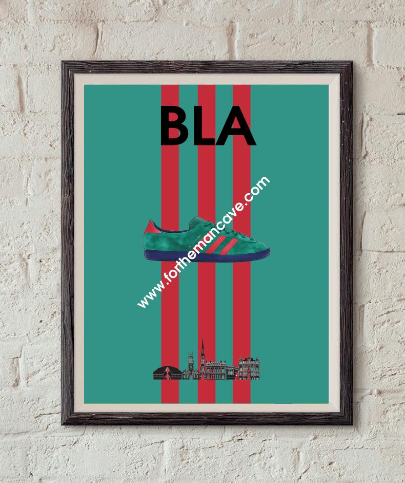 Image of BLACKBURN INSPIRED / THREE STRIPE PRINT
