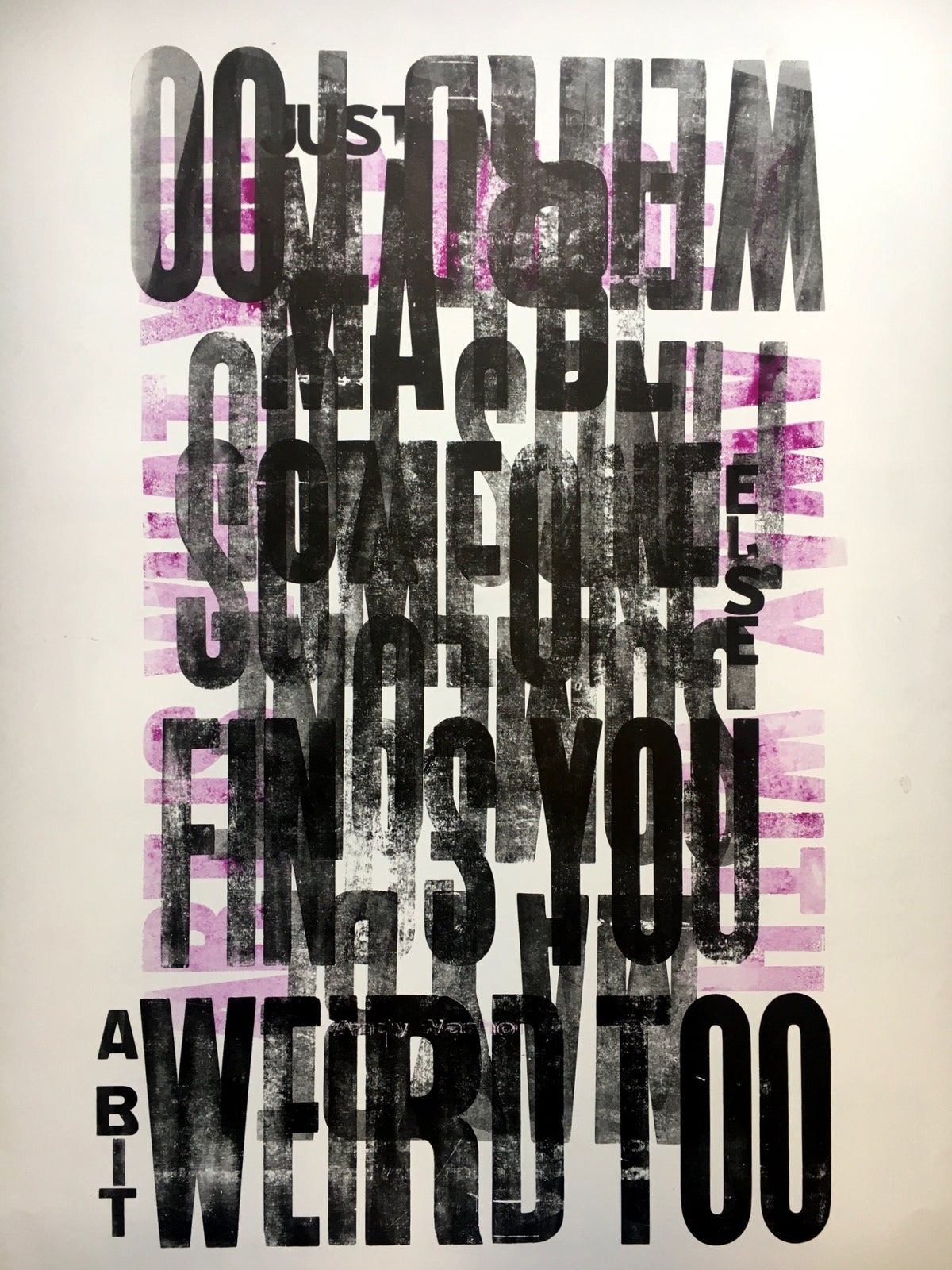 Image of One-off Typo Poster #1-066
