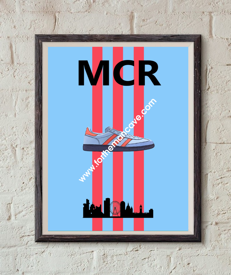 Image of MANCHESTER INSPIRED / THREE STRIPE PRINT