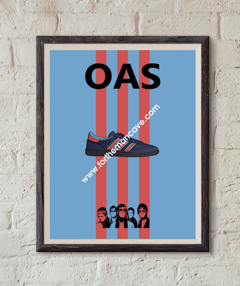 Image of MANCHESTER 89 - OASIS INSPIRED / THREE STRIPE PRINT