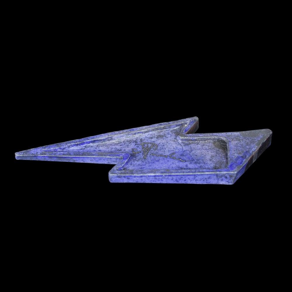 'Space Invader' Raku Lightning Bolt