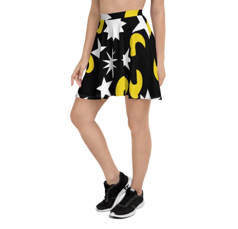 Image of Moonlight Print Flowy Skirt