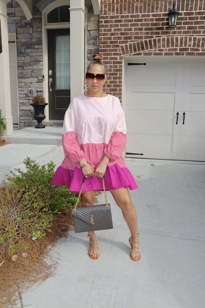 Image of Color Blocking Dress