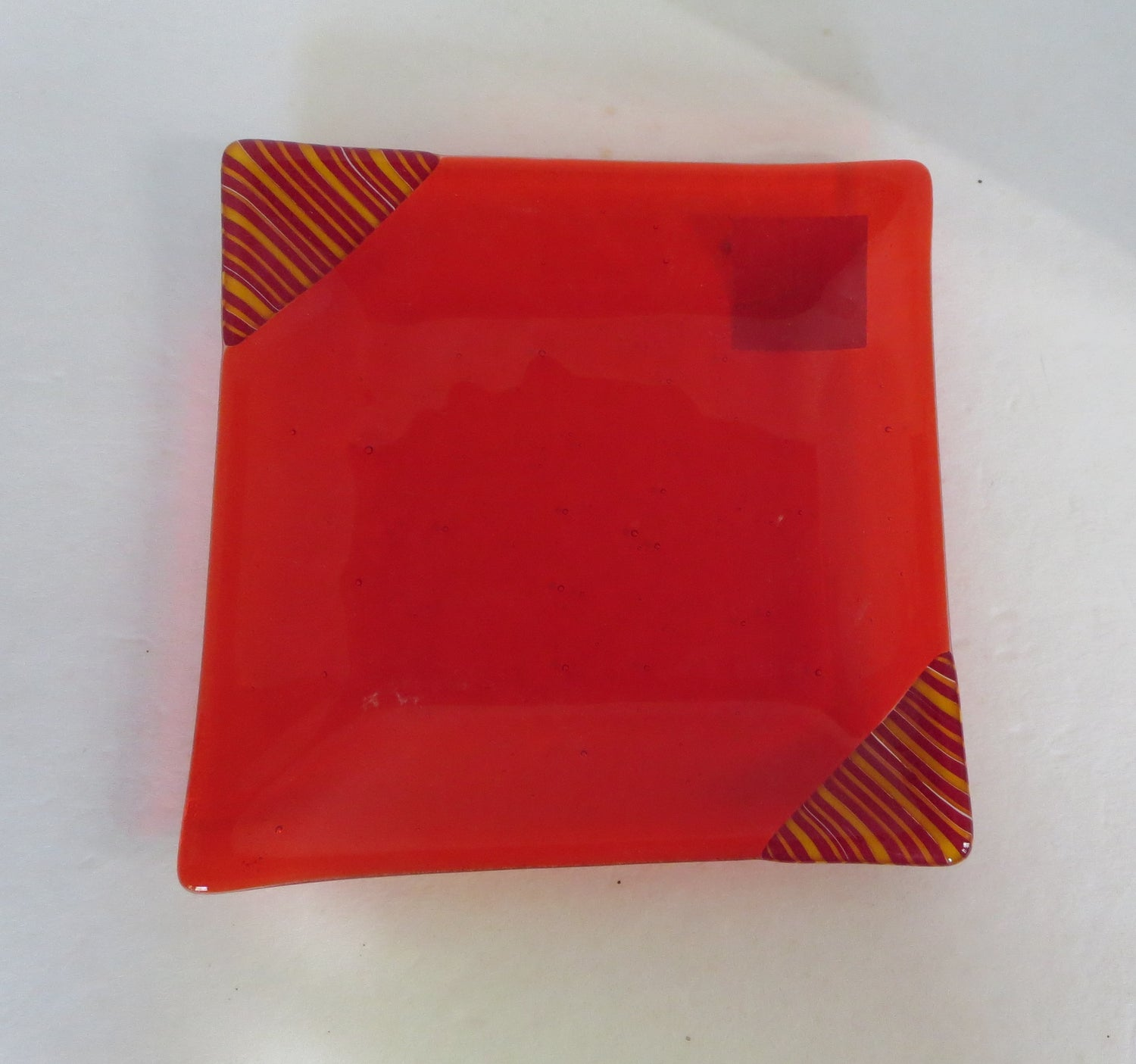 Corner Stripe Orange Dish - BHG-043