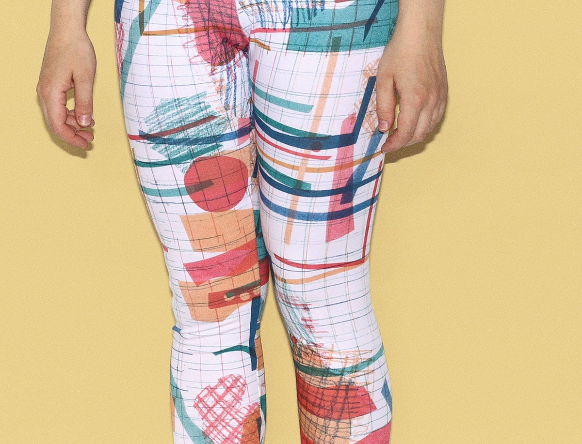 Image of COLOR COLLAGE LEGGINGS