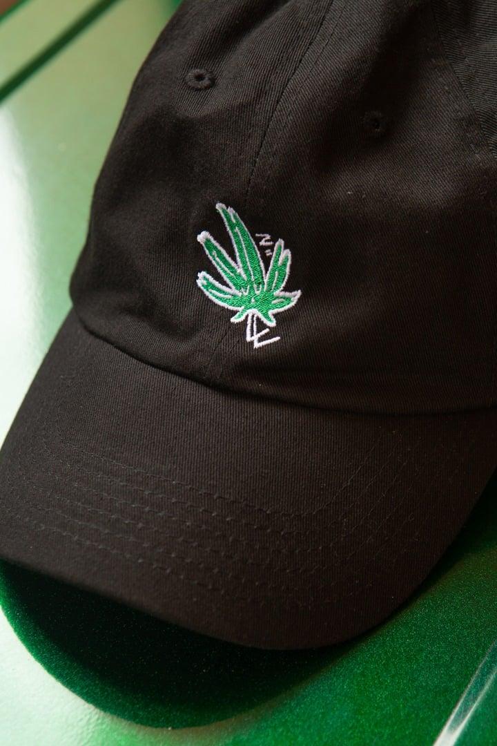 Image of Black Sleepy Grass Baseball Cap