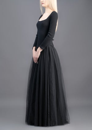 Image of  SAMPLE SALE - Sophie Tulle Long Dress Black