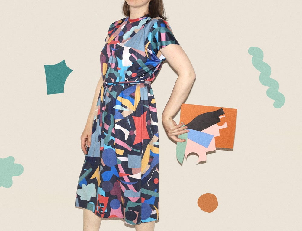 Image of COLOR CUTS LOOSE DRESS