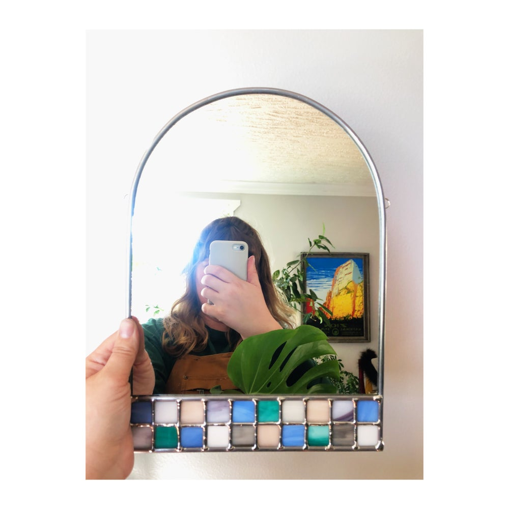 Image of Cottagecore Checker Mirror