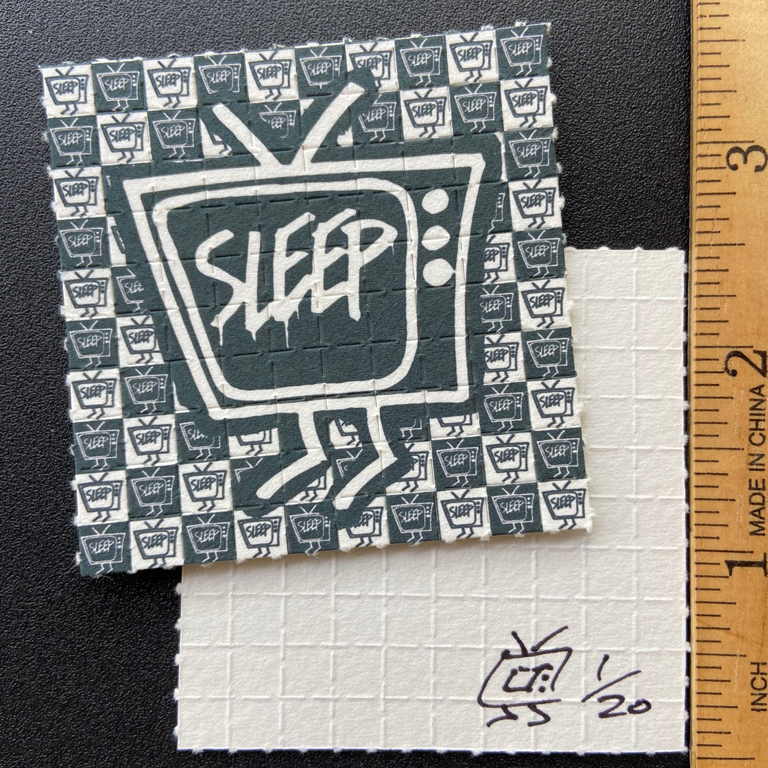 Image of LSD perforated blotter sheet (100 tabs)