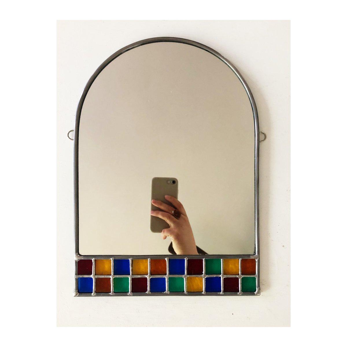 Image of Rainbow Checker Mirror