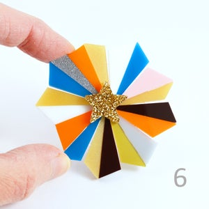 Image of Starburst Brooches 4 to 6