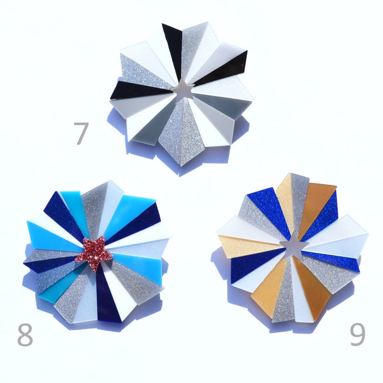 Image of Starburst Brooches 7 to 9