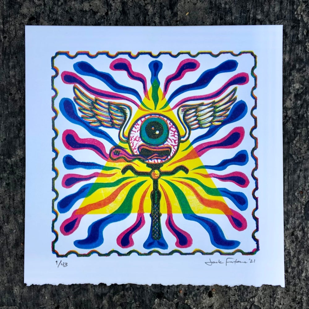 Image of Bicycle Day 2021 print