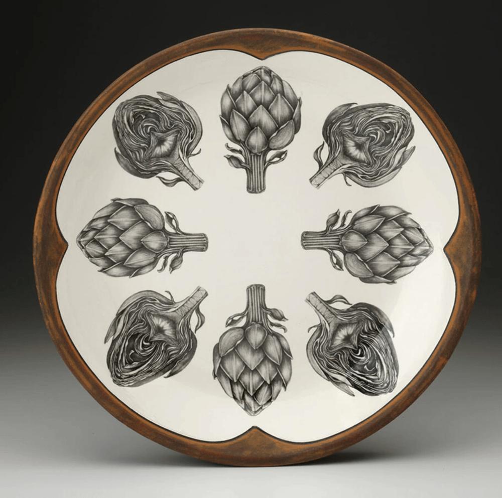 Image of Round Platter (Artichokes or Chipmunk)