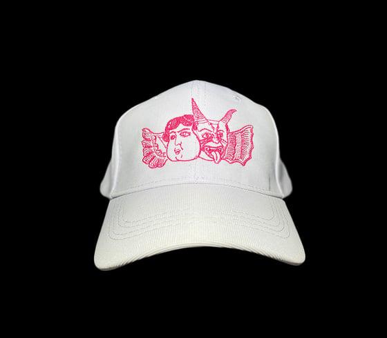 Image of Change of heart baseball cap (white/hot pink)