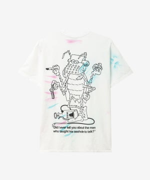 Image of REAL BAD MAN_ASSHOLE TIE DYE TEE :::WHITE TD:::