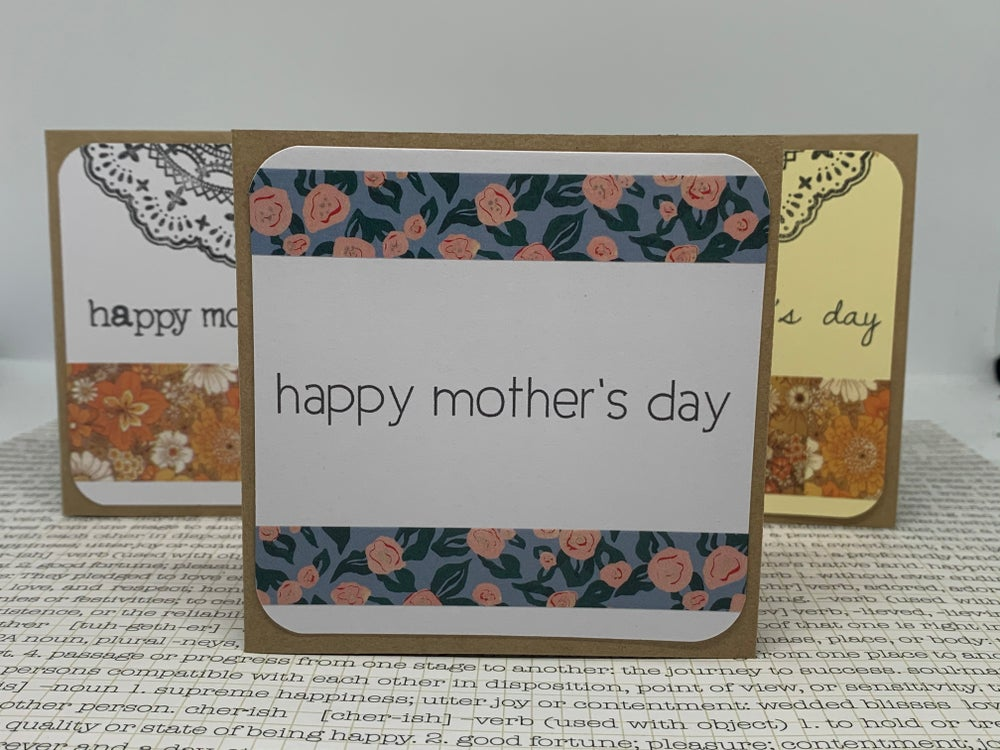 Image of mother's day gift cards w/ retro washi
