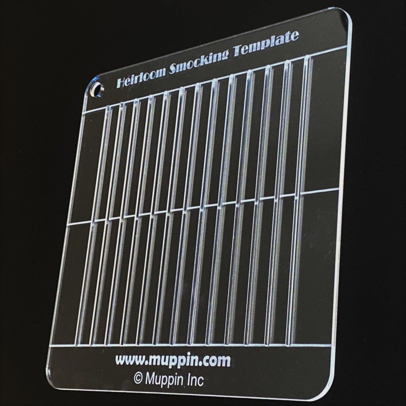 ORIGINAL Heirloom Smocking Template with Bonus Pattern