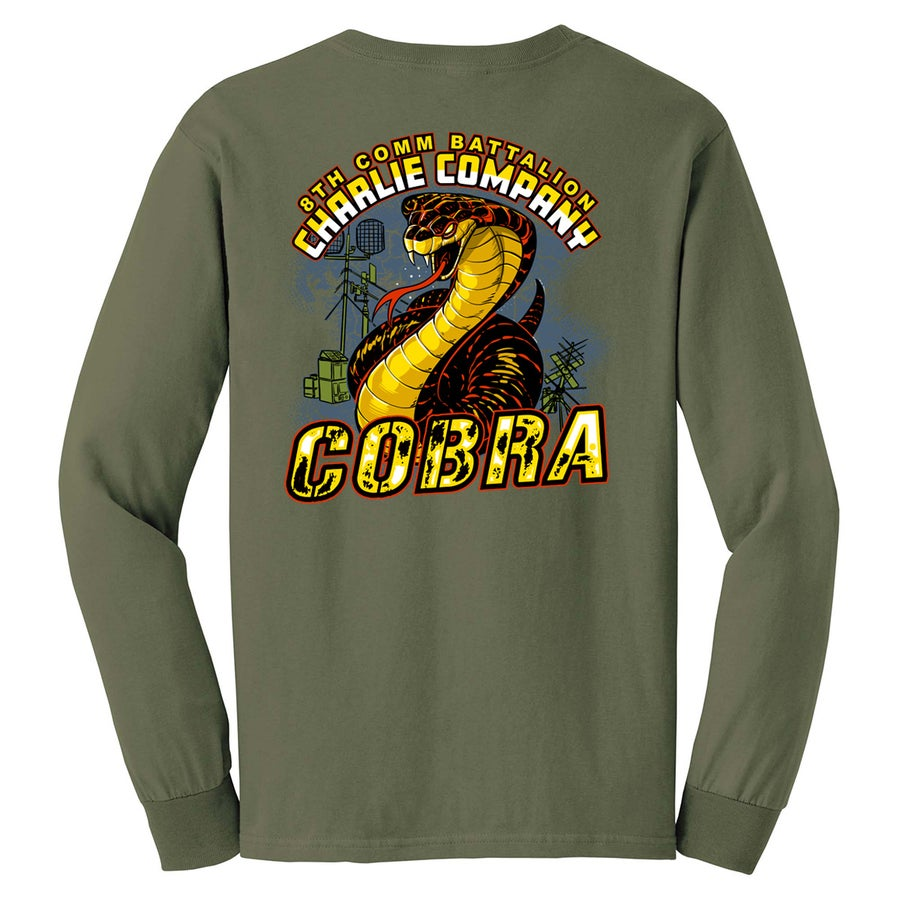 Image of SC2951 8TH COMM CHARLIE CO Long Sleeve T-Shirt
