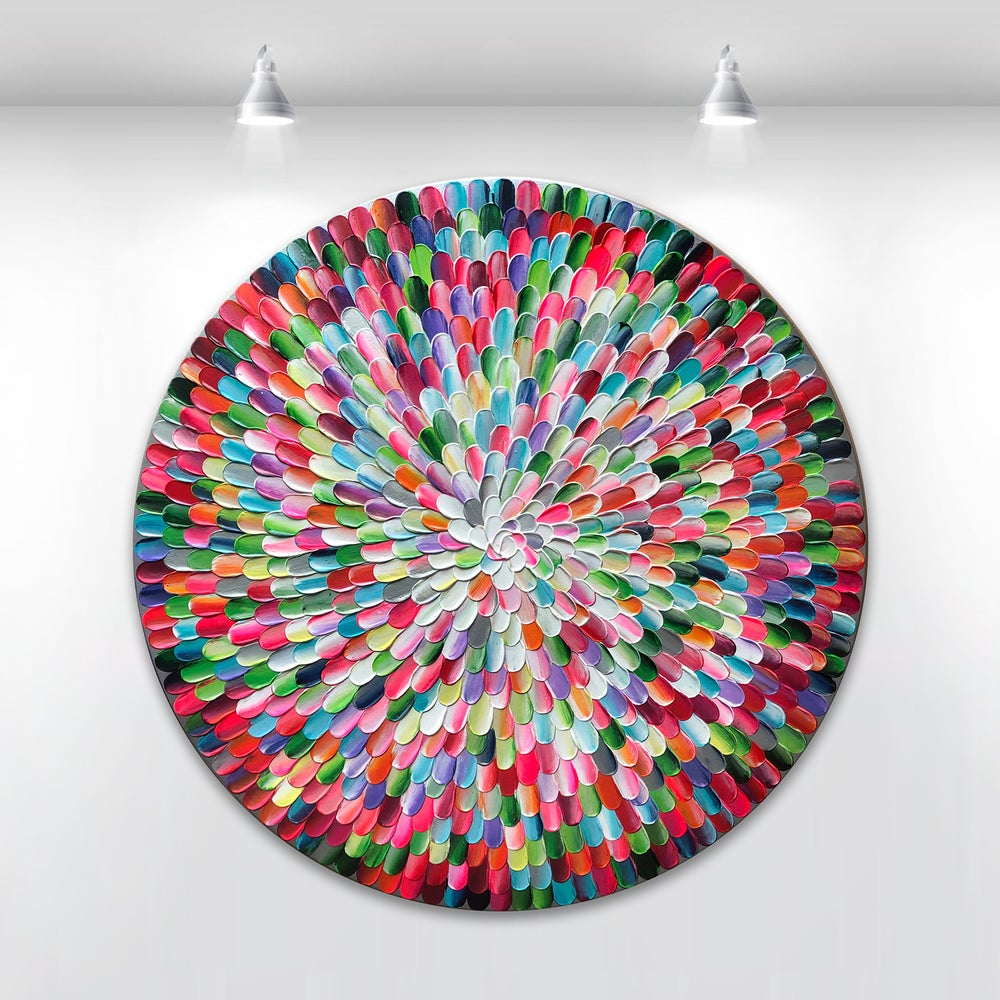 Image of 'Pacific rainbow IV' - 60x60cm