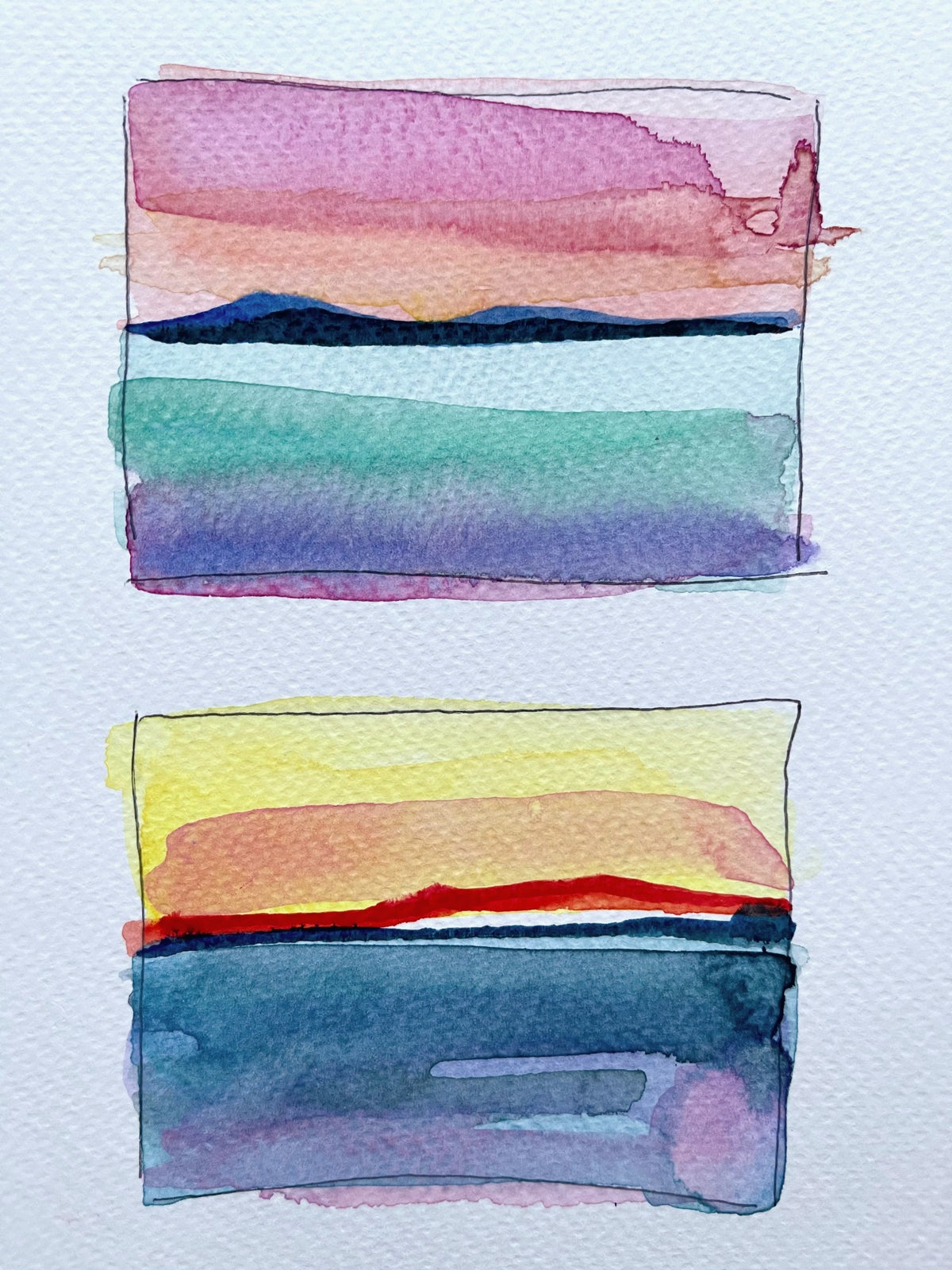 Image of Learn How to Paint An Abstract Watercolor Landscape - PRERECORDED