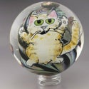 Sushi Party Cat - Murrine and Stringer Drawing Marble 123