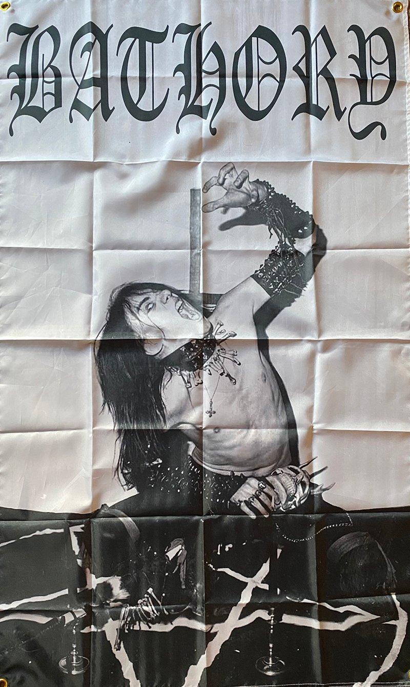 """Image of Bathory """" Quorthon """"  Flag / Banner / Tapestry"""