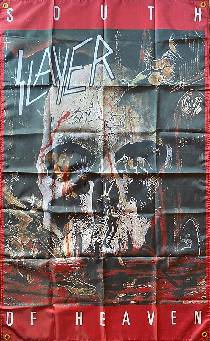 "Image of Slayer "" South Of Heaven"" Flag / Tapestry / Banner"