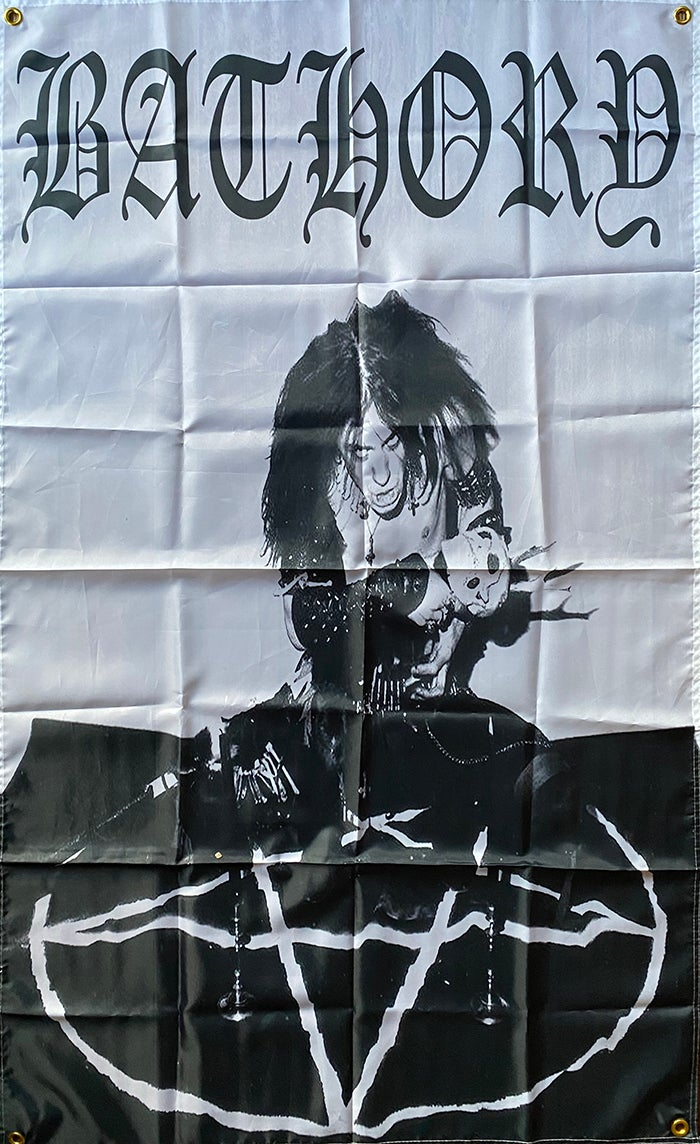 "Image of Bathory "" Quorthon "" Flag / Banner / Tapestry"