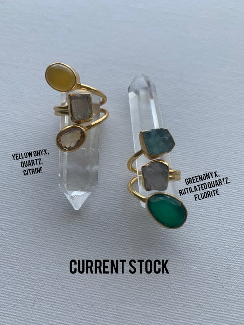 Image of MANDJANI LITE • Crystal Rings