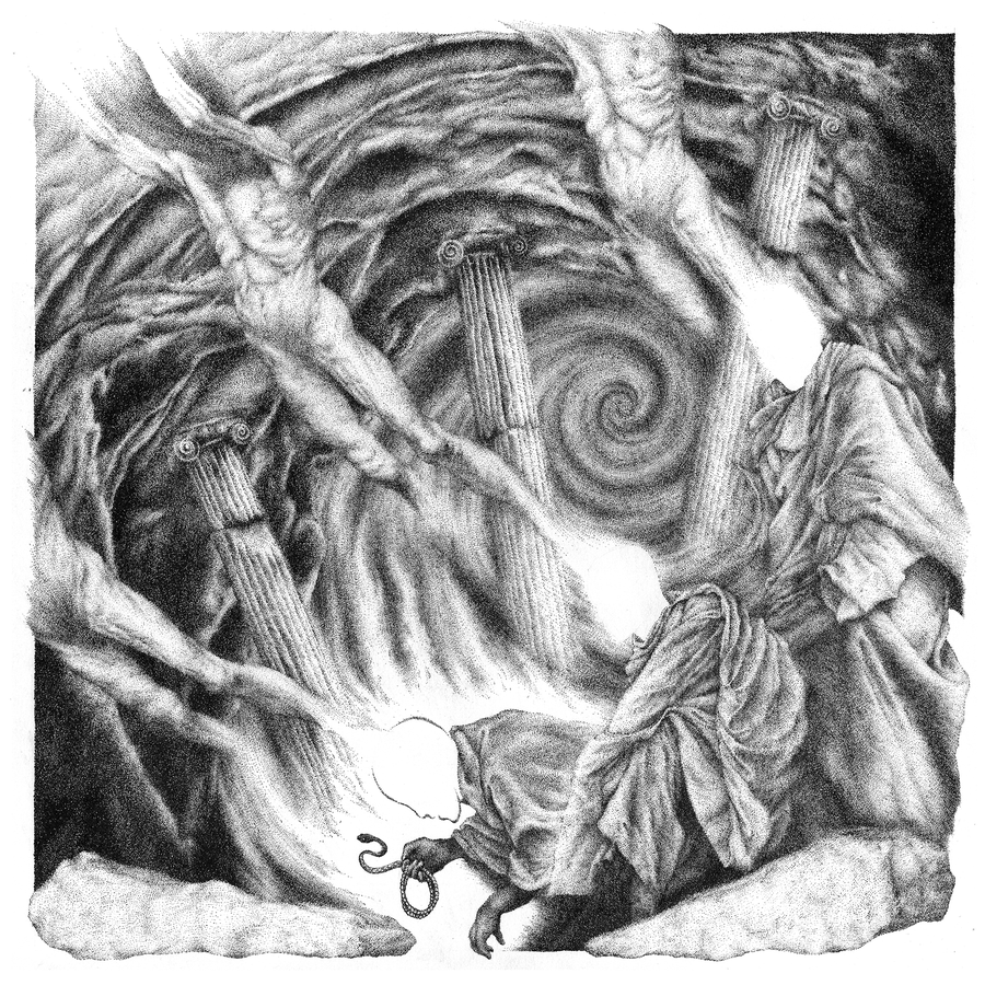 Image of Embrace of Thorns | Ink Drawing
