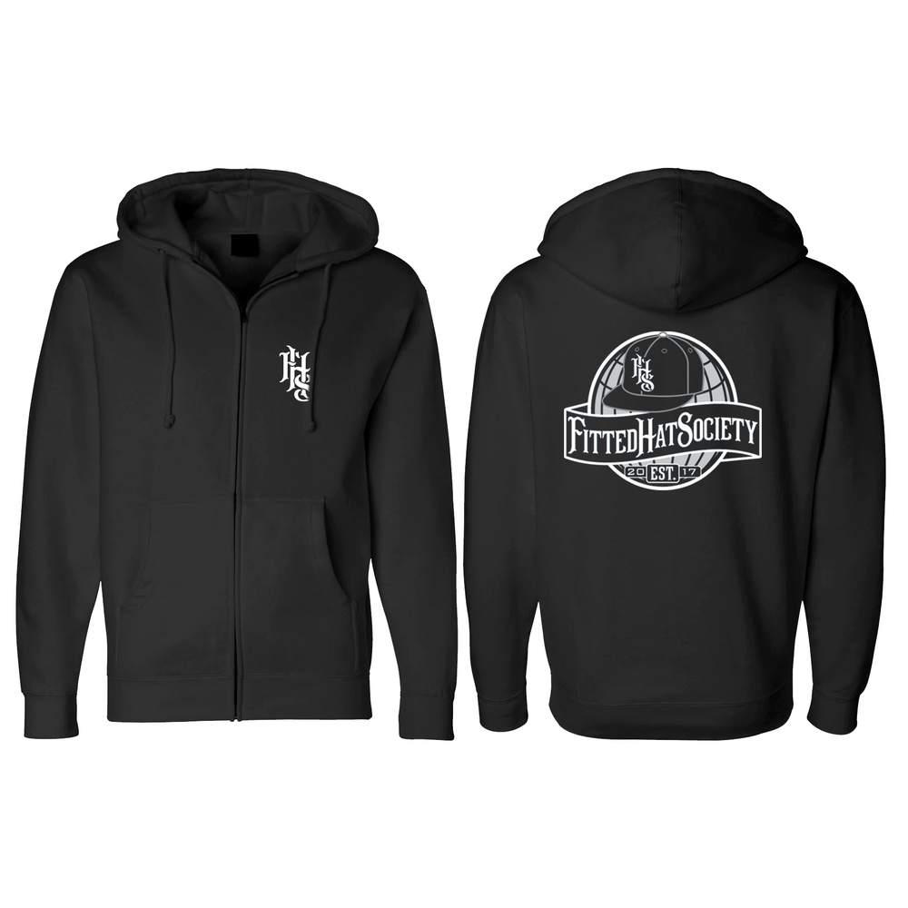 FHS Globe Logo Black Zip-Up Sweatshirt