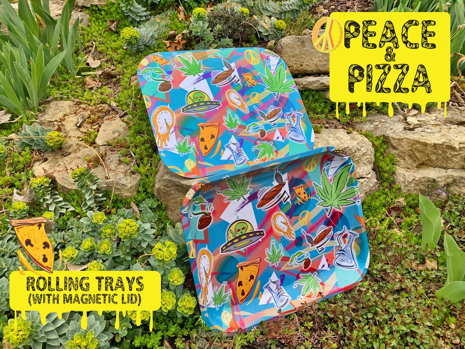 Completely Bonkers - Peace & Pizza Rolling Tray
