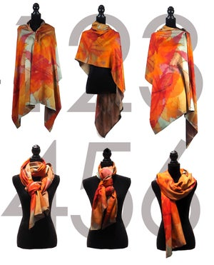 Image of Cashmere-Silk Autumn Leaves Charcoal