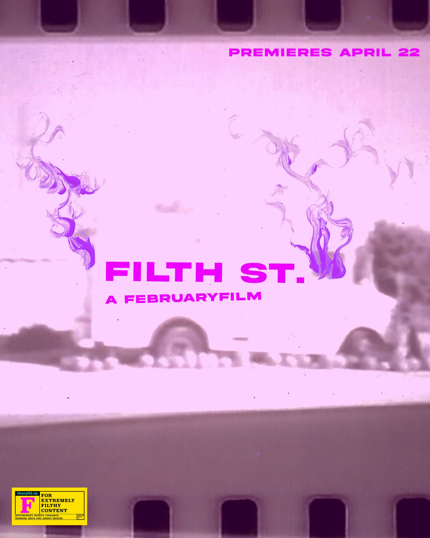 Image of FILTH ST. MOVIE POSTER SMOKE