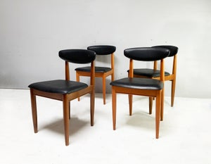 Image of Set of 4 1970's mid century dining chairs by Schreiber