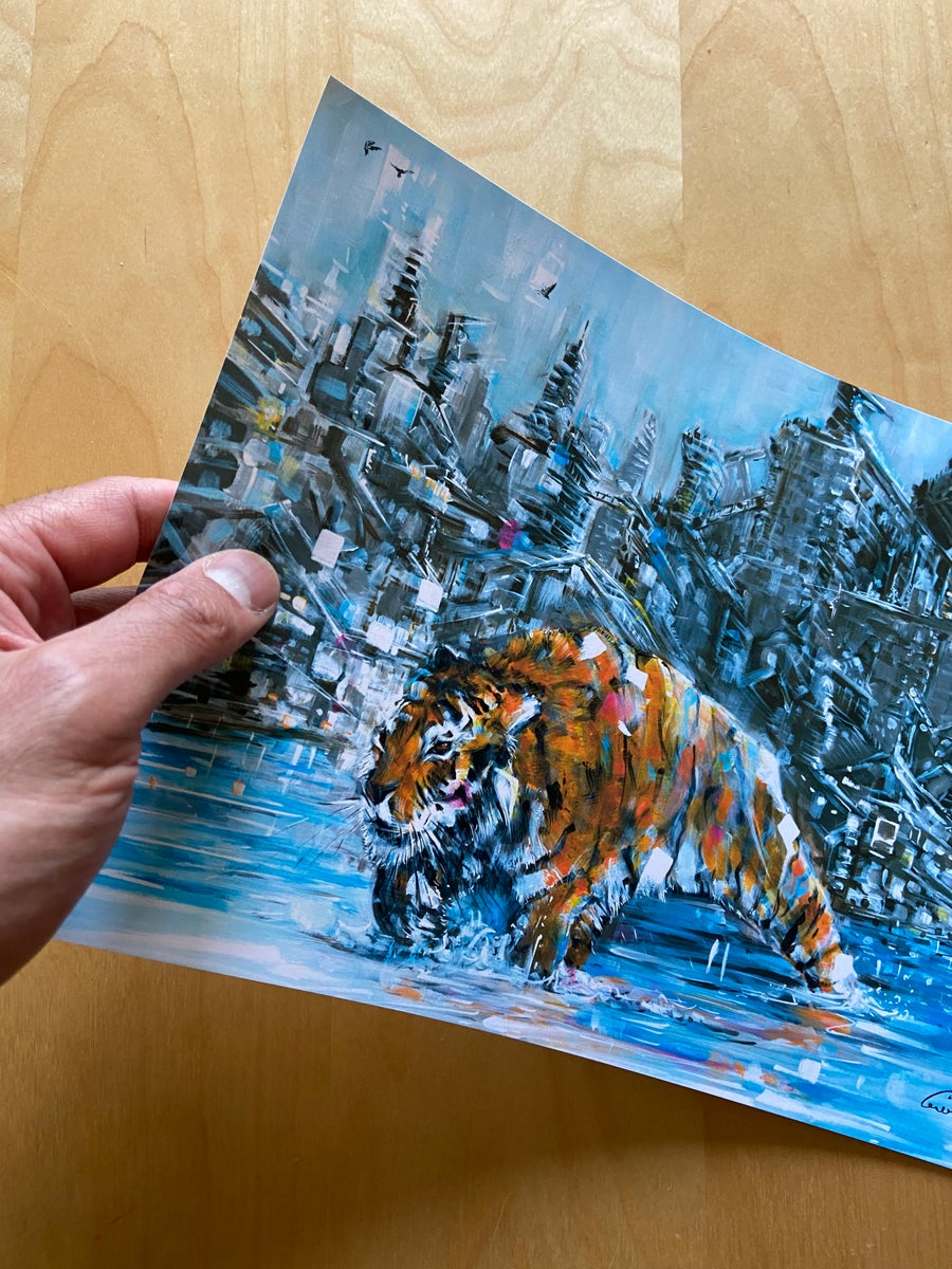 Image of Tiger Painting - Print